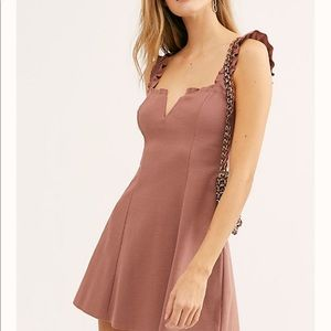FREE PEOPLE  CRUSH MINI SLIP DRESS.SIZE MEDIUM